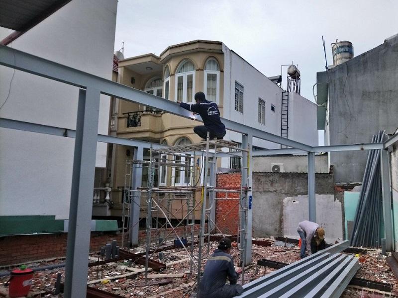 xây dựng quán cafe tép tiền chế