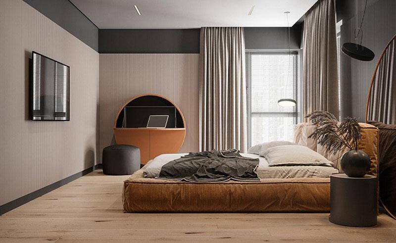 phòng ngủ hiện đại tỉ lệ