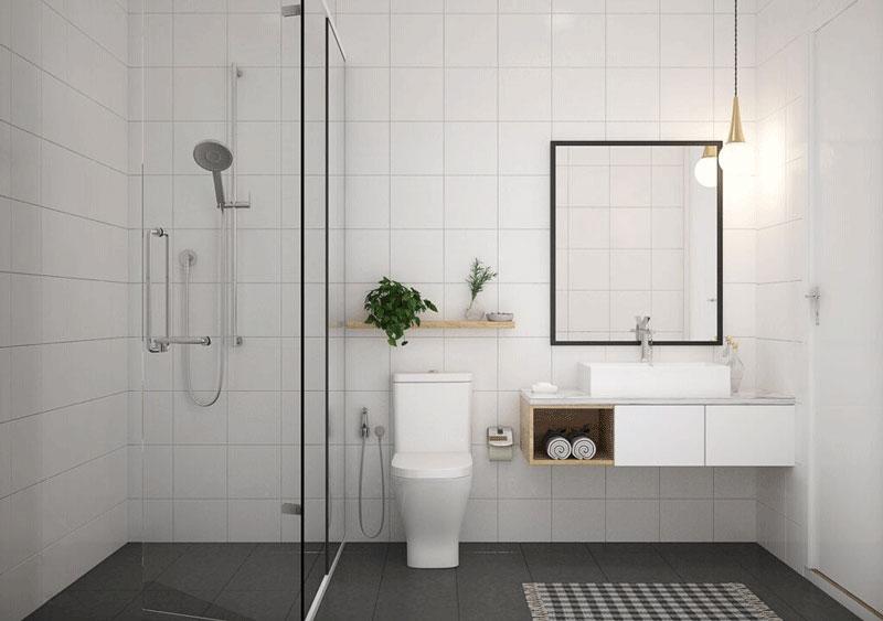 phong thuỷ nhà ở phòng tắm
