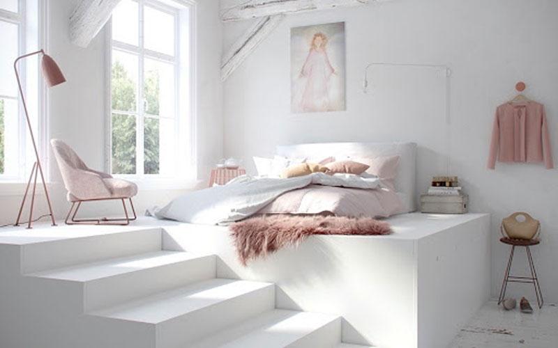 phòng ngủ hiện đại cho nữ