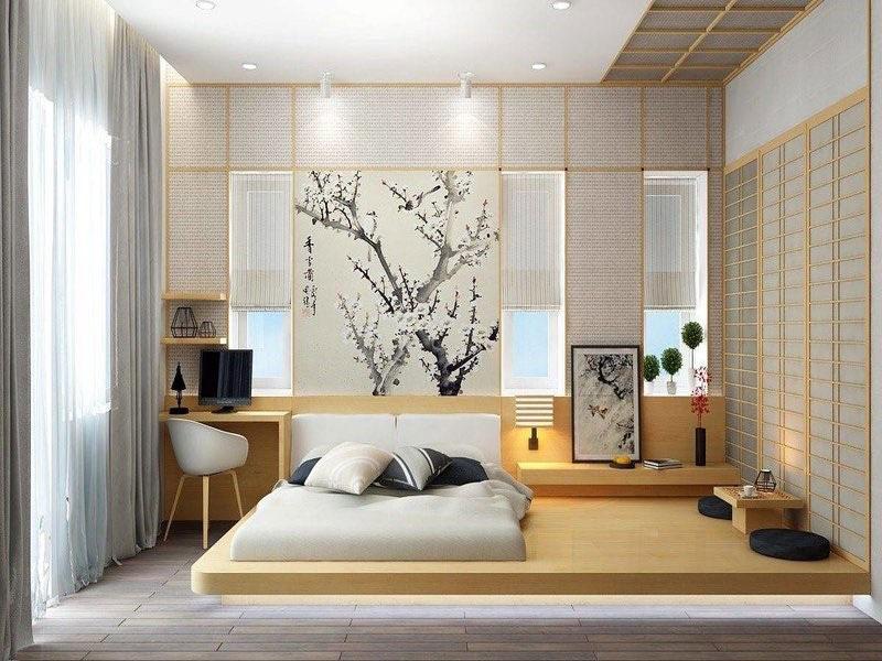thiết kế phòng ngủ nhỏ nhật bản