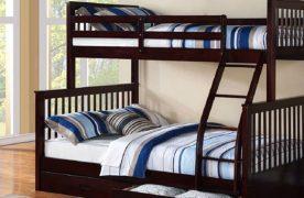 Thiết kế giường tầng thông minh dành cho cha mẹ và bé đã được hình thành. Với kết cấu giường tầng 2 nhỏ cho bé và giường đôi cho ba mẹ.
