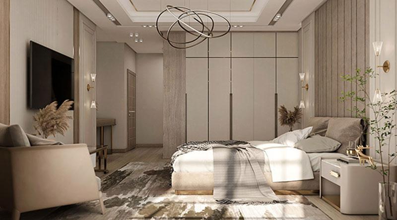 thiết kế phòng ngủ 20m2 ánh sáng