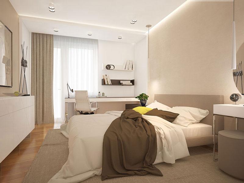 thiết kế phòng ngủ 20m2 màu sắc