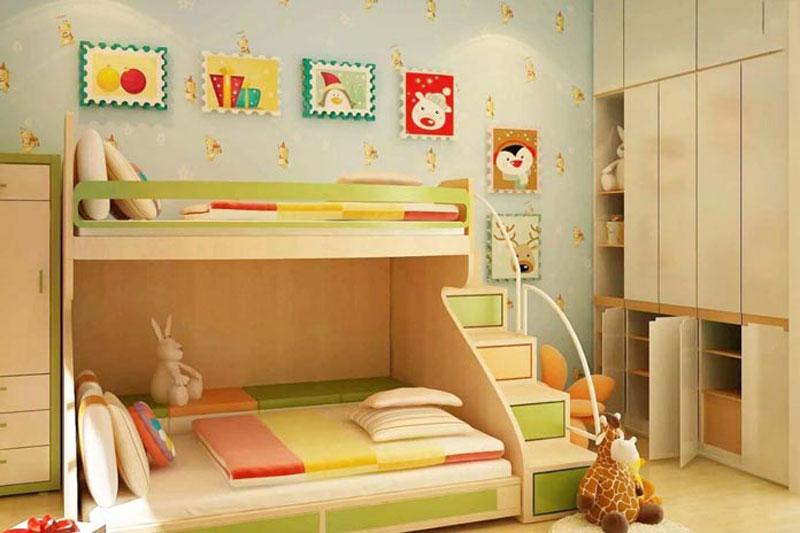 thiết kế phòng ngủ 20m2 trẻ em