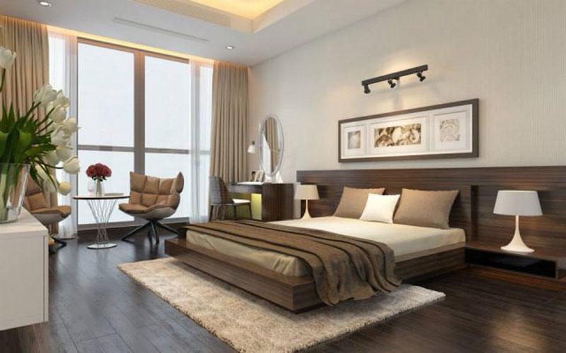 thiết kế phòng ngủ 20m2 ứng dụng