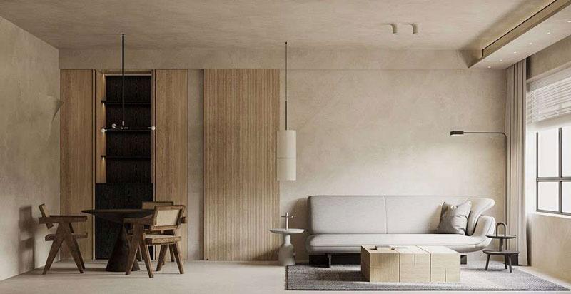 tủ trang trí phòng khách âm tường