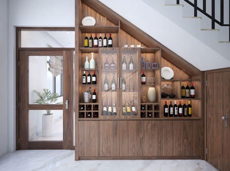 tủ trang trí phòng khách rượu