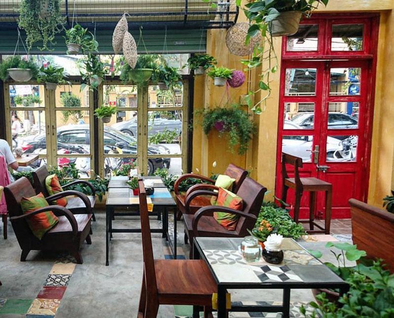 mở quán cafe sân vườn nhỏ vị trí