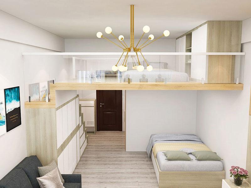 thiết kế chung cư mini ánh sáng