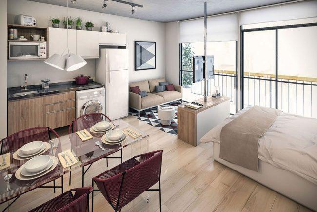 Mẫu thiết kế chung cư mini đáp ứng nhu cầu sinh hoạt cơ bản của đối tượng khách hàng có thu nhập từ thấp cho đến trung bình.