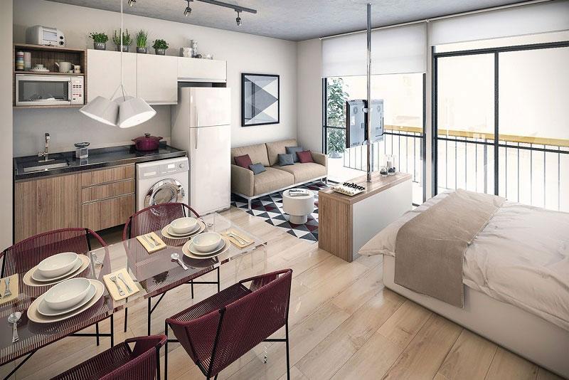 thiết kế chung cư mini hiện đại