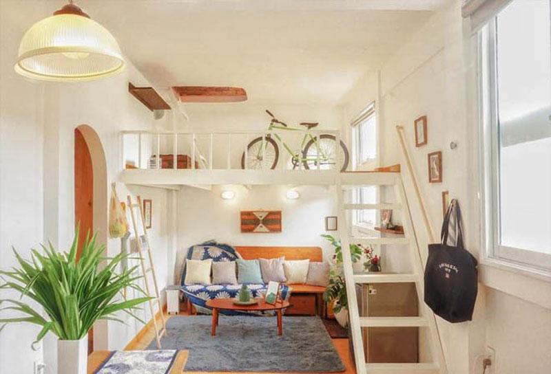thiết kế chung cư mini màu sắc