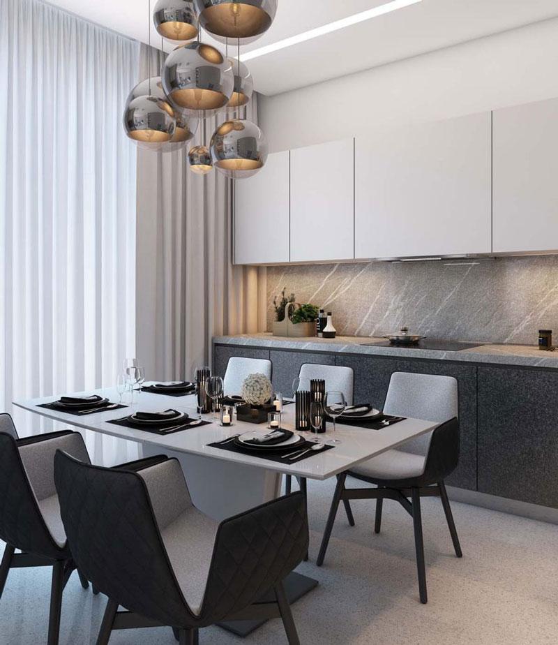 thiết kế nhà chung cư đẹp 70m2 bếp