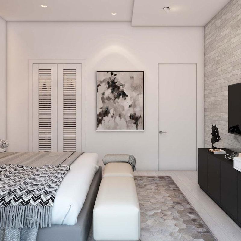 thiết kế nhà chung cư đẹp 70m2 phòng ngủ
